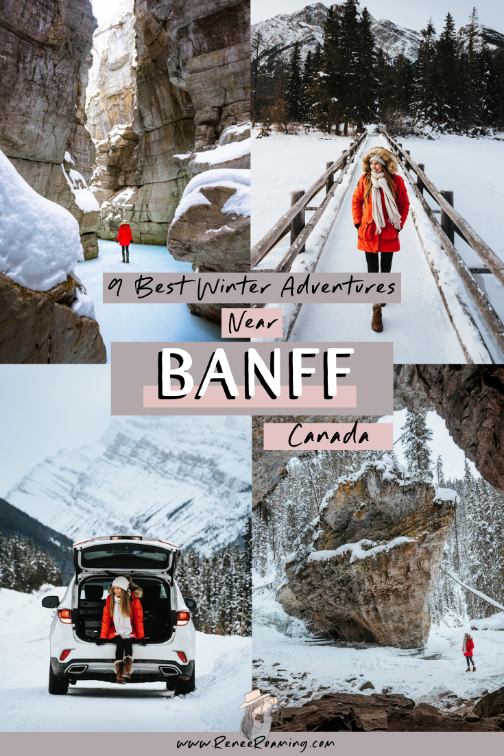 winter adventures near banff canada renee roaming