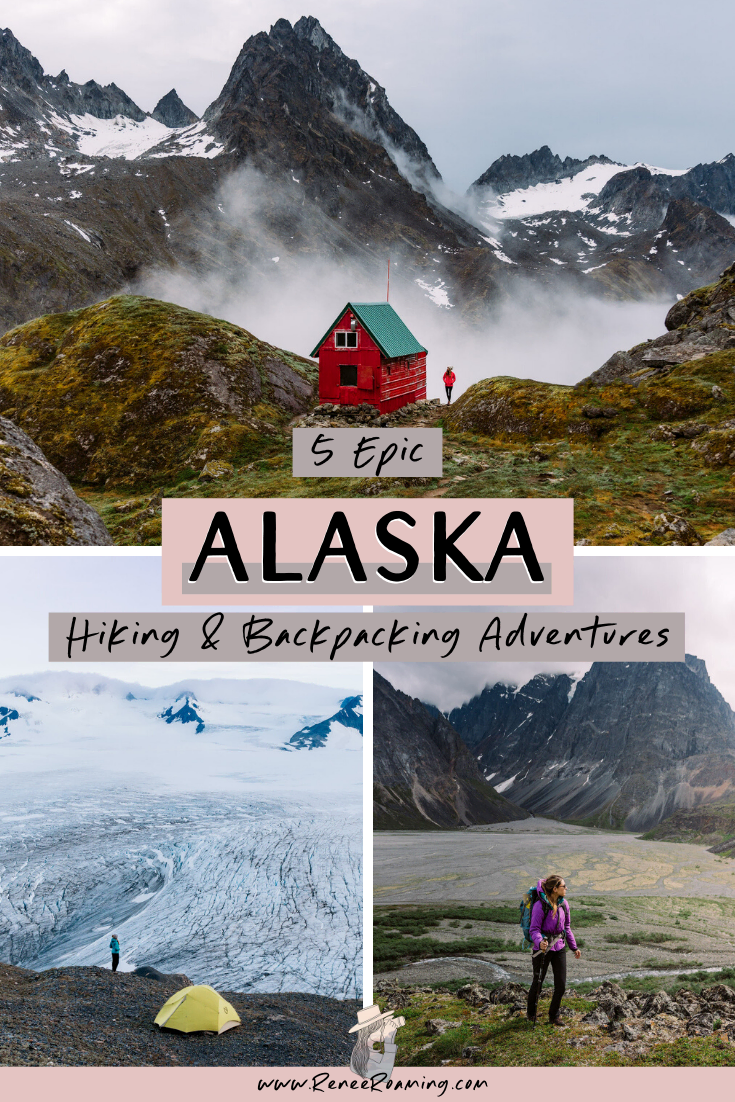 Alaska is jam packed with incredible hiking trails and opportunities for backpacking. I know it's kind of cliche, but Alaska really does have an untamed wildness about it… and the state has some of the most rugged landscapes in the world. In saying that, you don't have to be Bear Grylls to have your own Alaska hiking experience! In this post I have listed 5 epic hikes and backpacking trips to consider for your next visit to the last frontier (plus some packing tips!) #hiking #alaska #backpacking