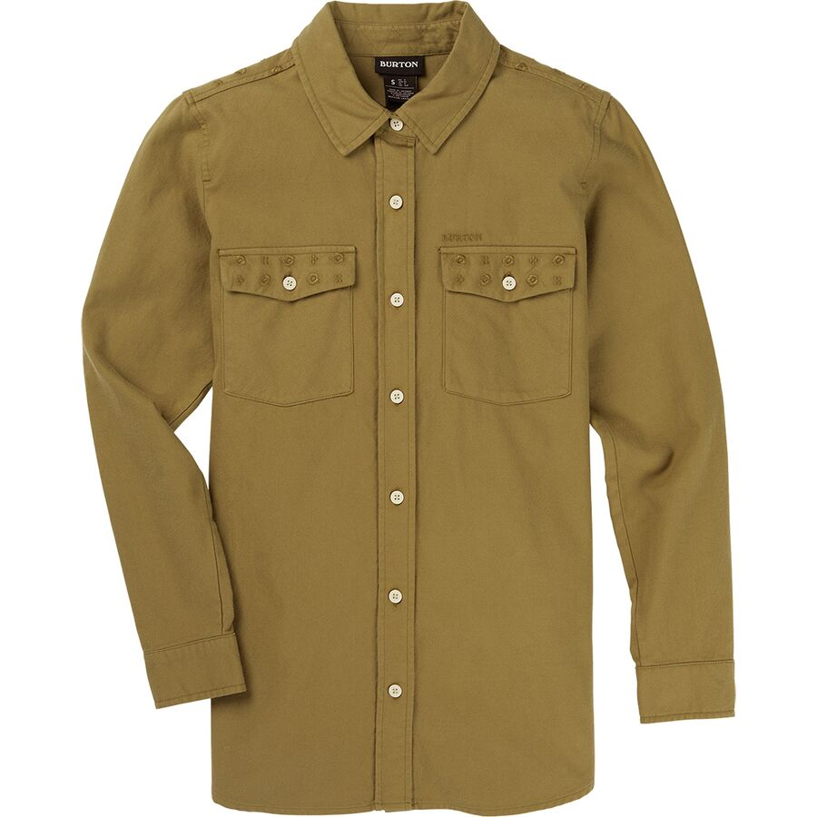 What To Pack for a Trip to New England in Fall - Burton Grace Premium Flannel Shirt