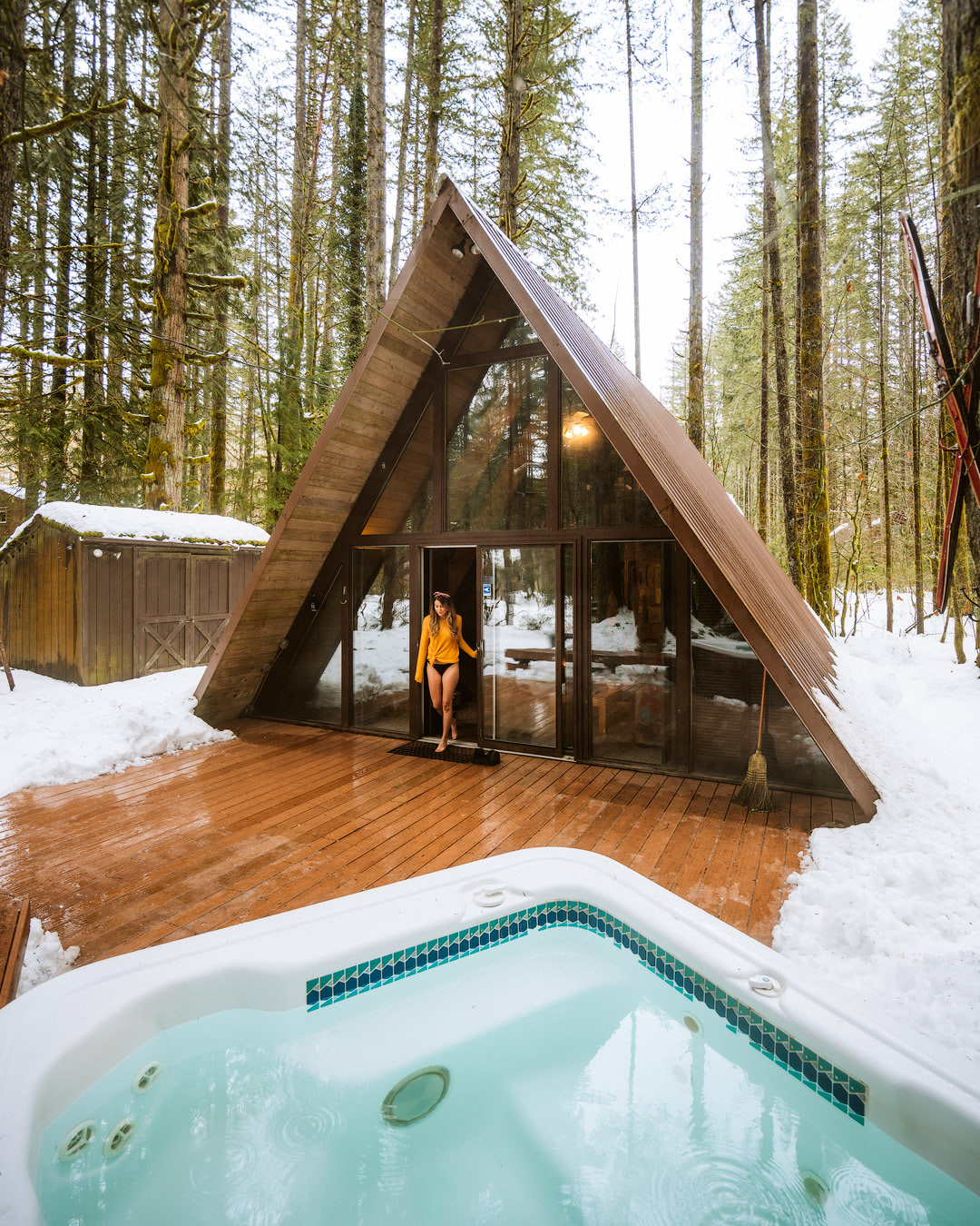 7 Magical Winter Outdoor Adventures For The Holidays - Backcountry - Renee Roaming - Winter Sky Tye Haus