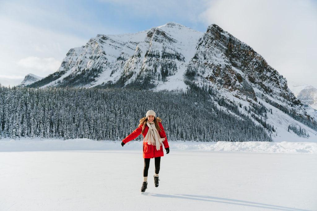 Planning a Trip toBanffin Winter - Ice Skating Lake Louise - Renee Roaming