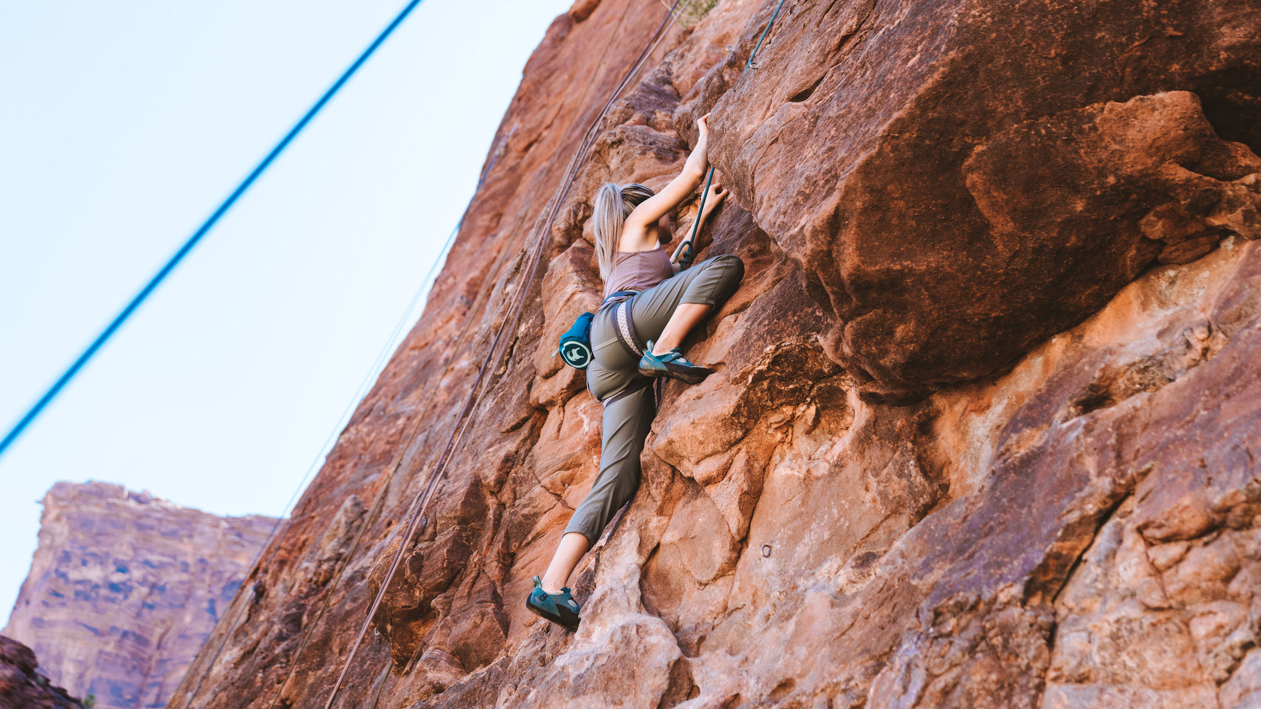 Experiencing Desert Climbing and Biking for the First Time Moab Rock Climbing with Backcountry Banner