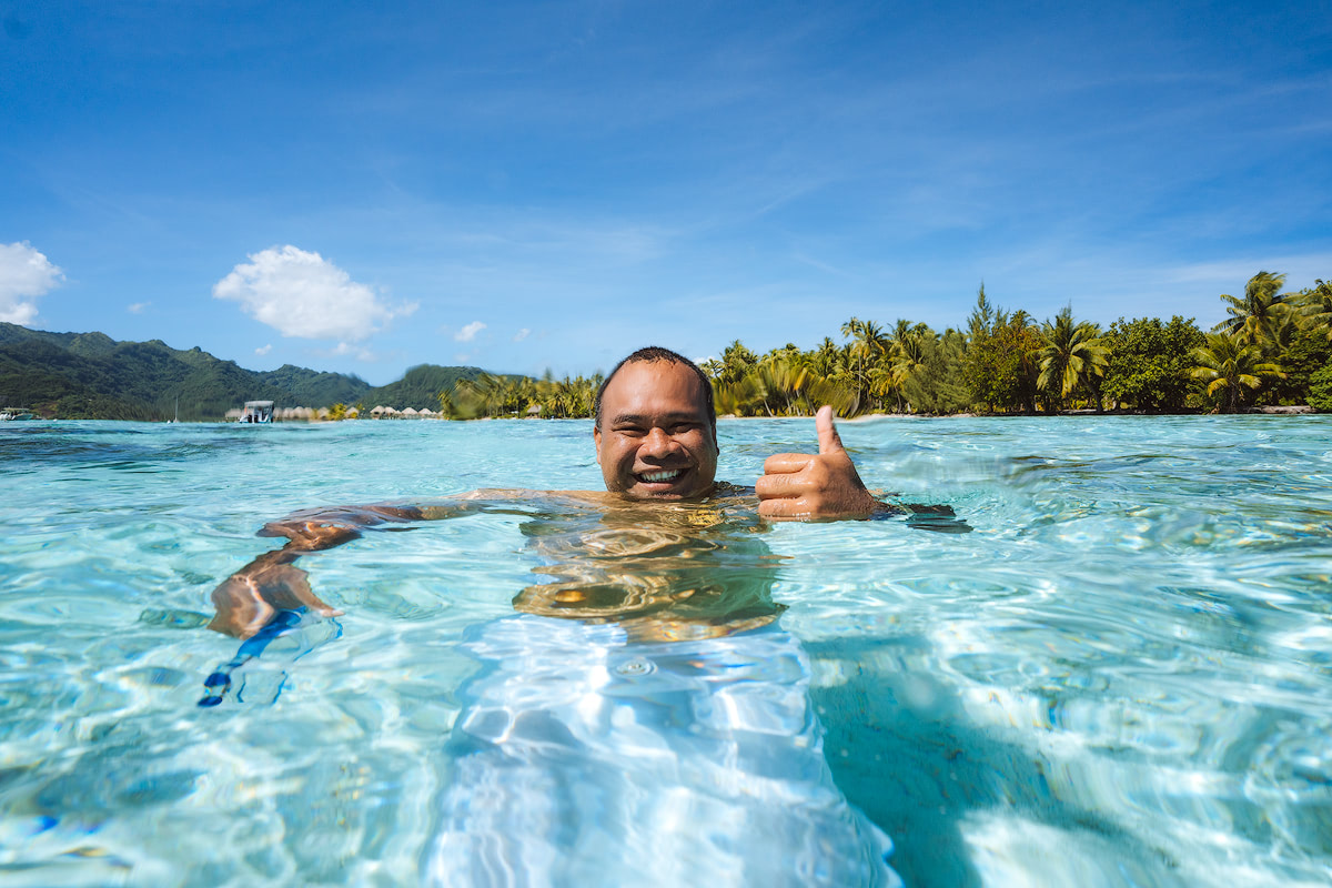 The Islands of Tahiti Le Tahaa Island Resort and Spa Renee Roaming Coral Garden Snorkeling 4