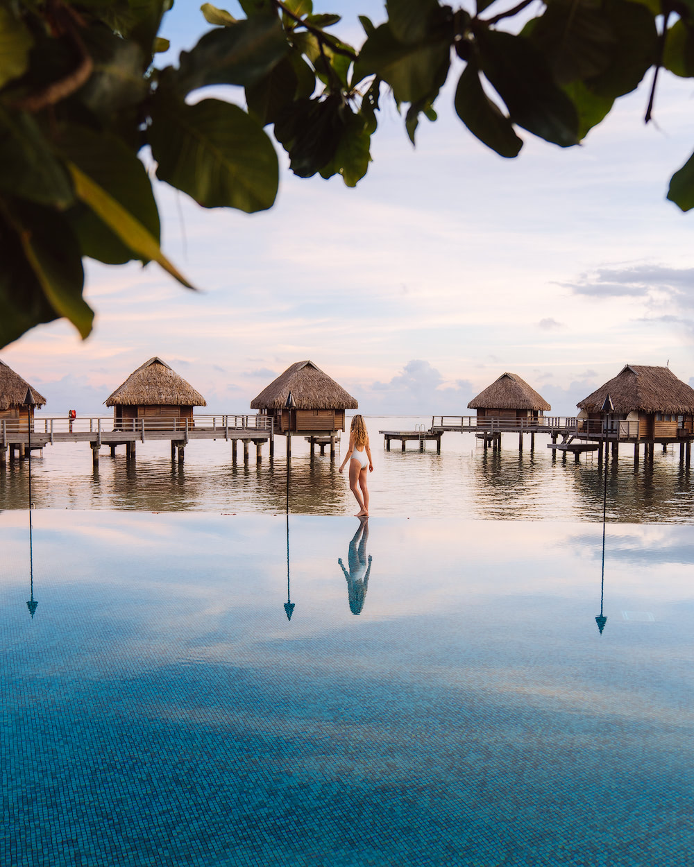 The Islands of Tahiti Moorea Manava Resort Pool Sunrise