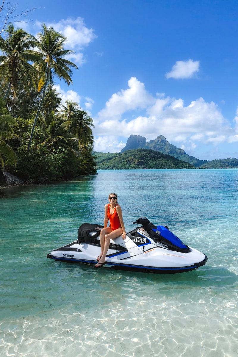 The Ultimate Romantic Couples Getaway to Bora Bora French Polynesia Jet Ski 1