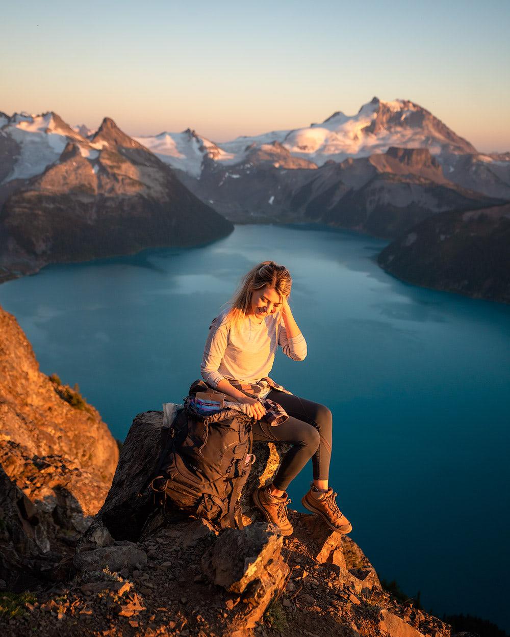 2019 Reflections and 2020 Intentions | Garibaldi Provincial Park Panorama Ridge Overnight Backpacking Trip Ridge Golden Hour