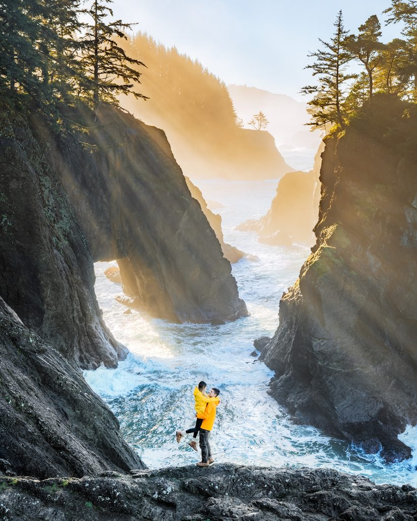 Scenic Oregon 7 Day Road Trip Exploring the Mountains and Coast - Natural Bridges Cove Samual H Boardman