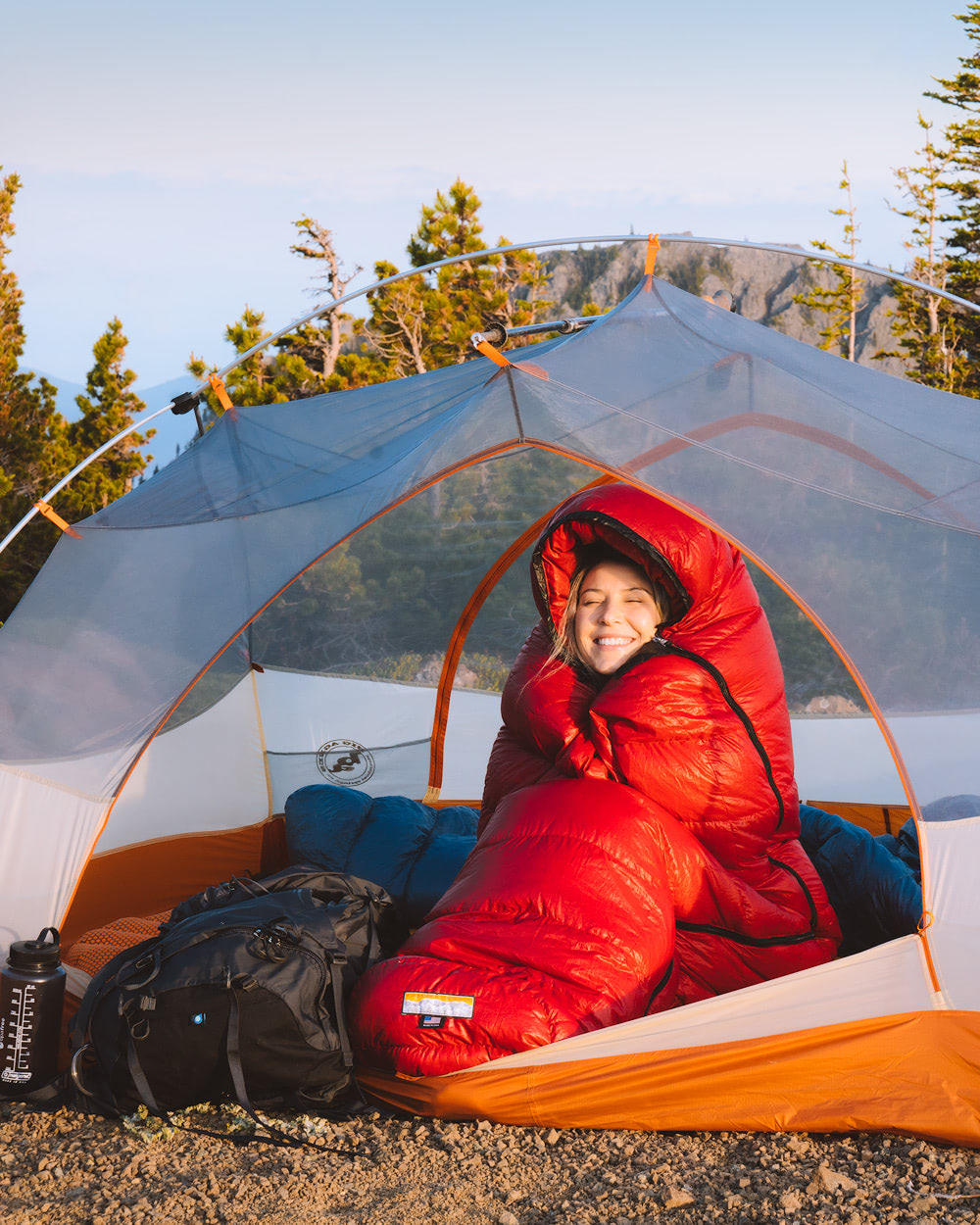 How To Travel Full Time - Must Know Tips for Affording to Travel the World - Tent Camping