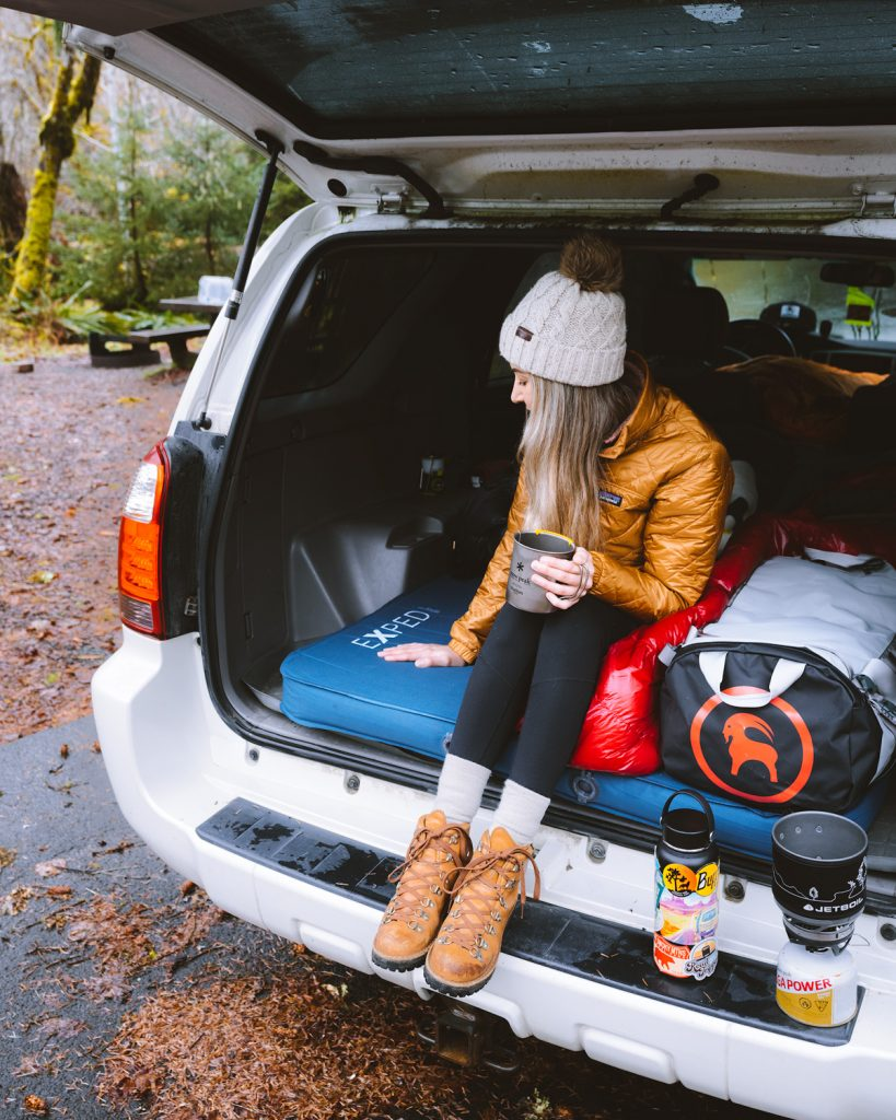 visit us national parks - car camp in the national parks - how to sleep in your car on road trips