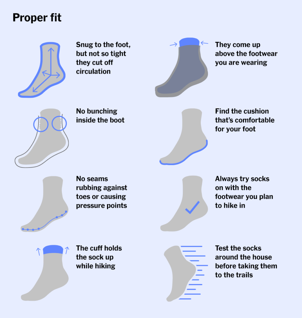 How to choose the right hiking socks