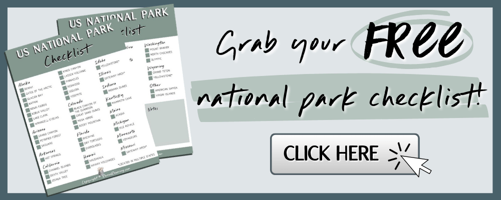 National Park Checklist Free Printable Download - Renee Roaming