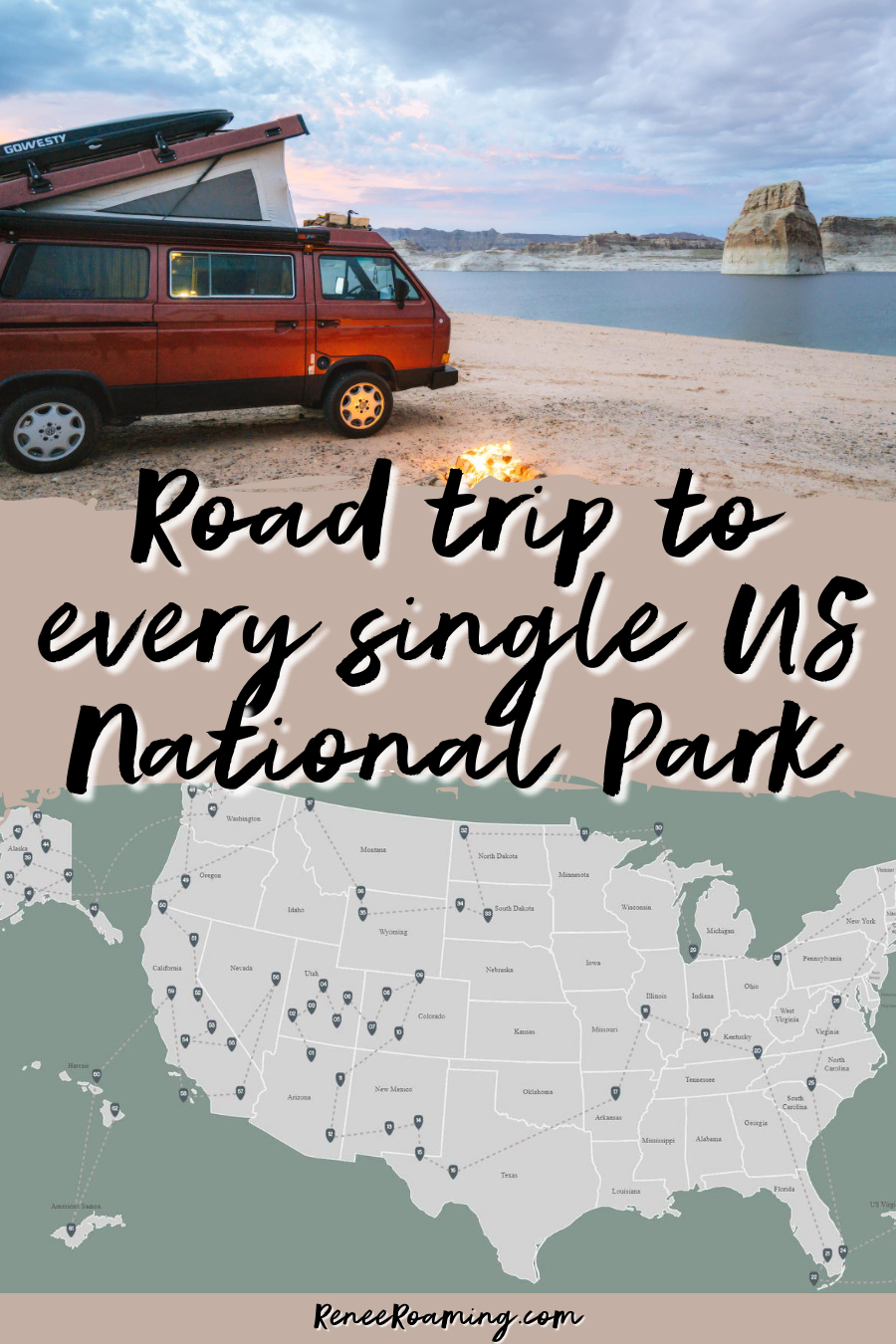 US National Parks Road Trip Route