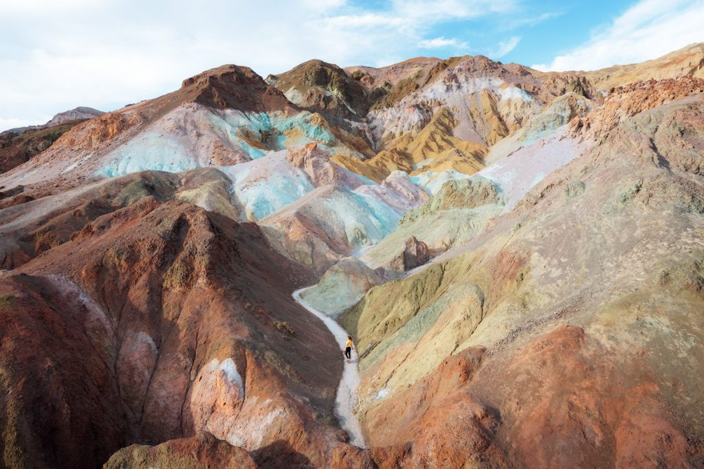 12 Best National Parks To Visit In The Fall - Death Valley National Park Artist Palette Hike