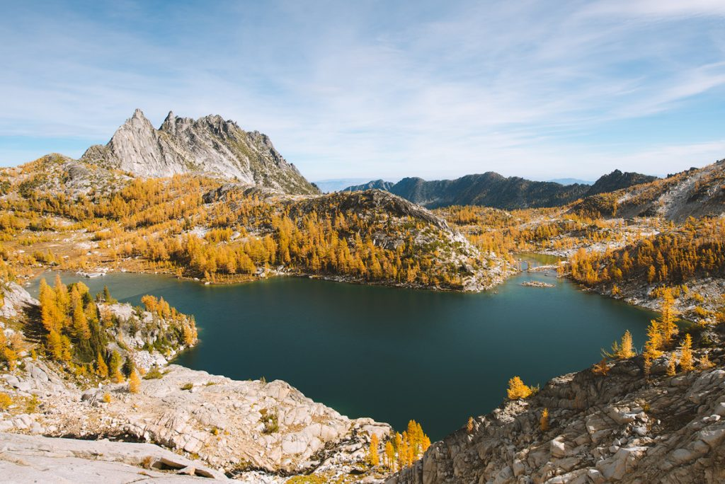 Best outdoor things to do during fall in Washington State - Backpacking in the Enchantments 2