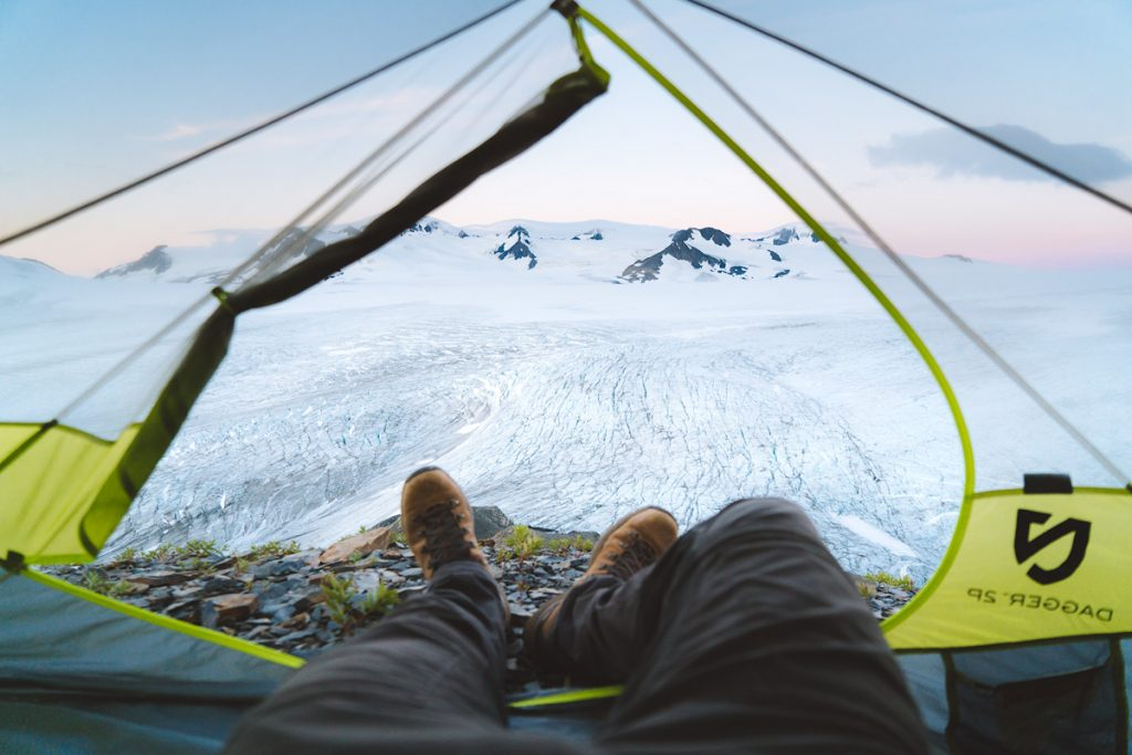 The Ultimate Guide to Exploring Kenai Fjords National Park - Exit Glacier Harding Icefield Tent View