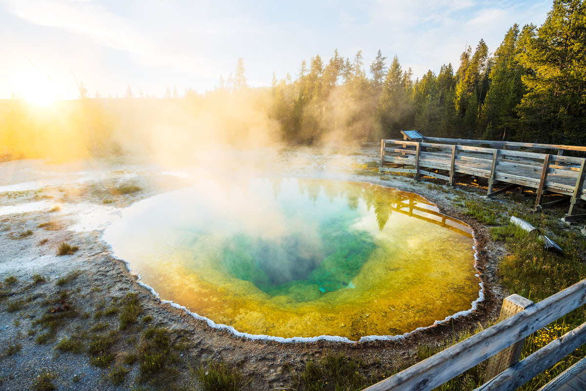 Ultimate Yellowstone National Park Guide and Itinerary - Morning Glory Pool
