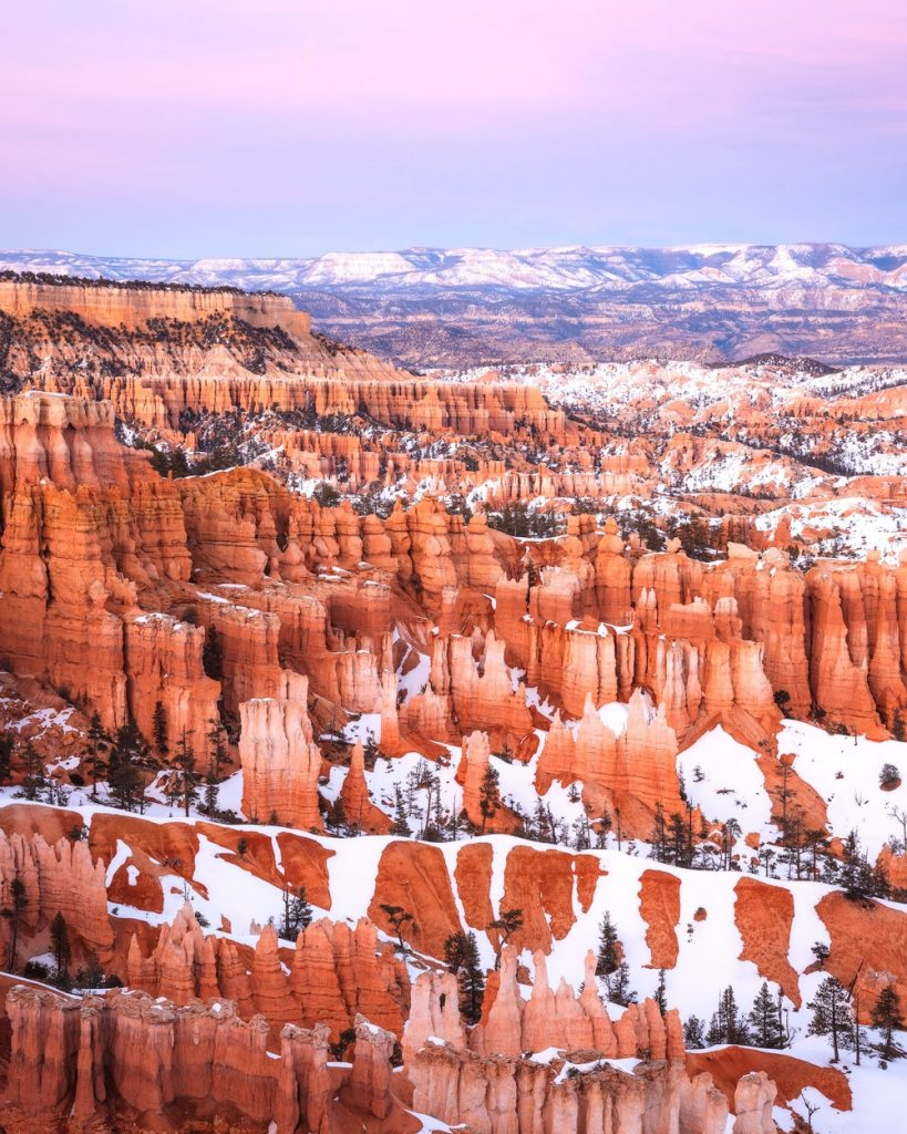12 Best National Parks to Visit in Winter - Bryce Canyon National Park Sunset