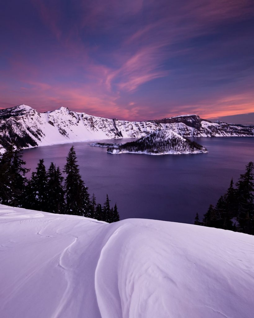 12 Best National Parks to Visit in Winter - Crater Laker National Park
