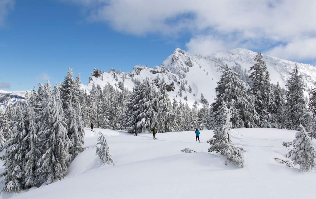 12 Best National Parks to Visit in Winter - Crater Laker National Park Snowshoeing