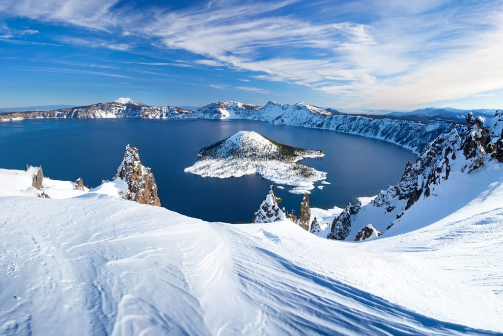 12 Best National Parks to Visit in Winter - Crater Laker National Park Winter