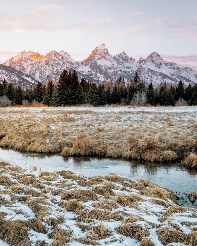 12 Best National Parks to Visit in Winter - Grand Teton National Park Black Tail Ponds