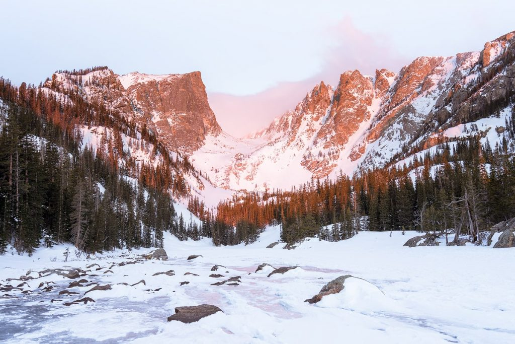 12 Best National Parks to Visit in Winter - Rocky Mountain National Park Dream Lake