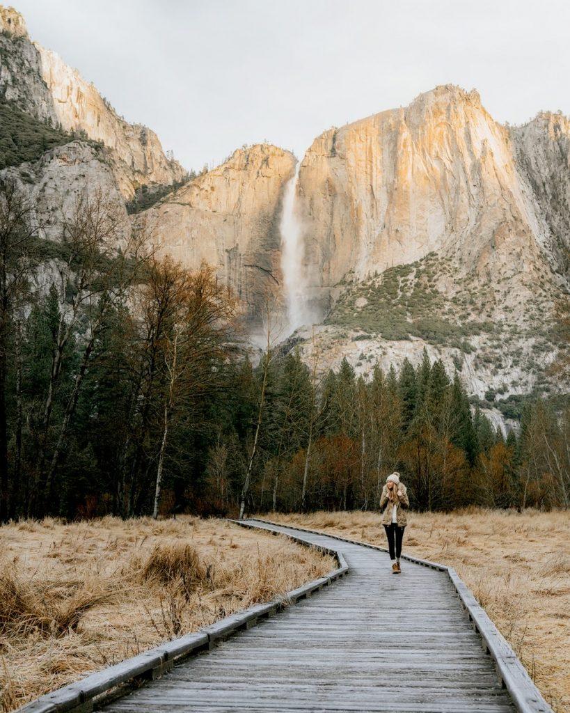 12 Best National Parks to Visit in Winter - Yosemite National Park Valley Boardwalk