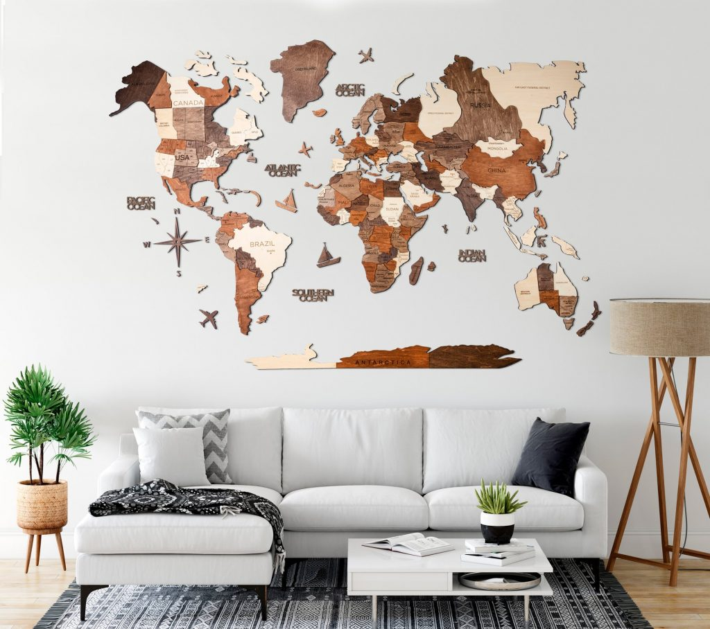 Best gifts for Travel Lovers 2020 - Wooden World Map