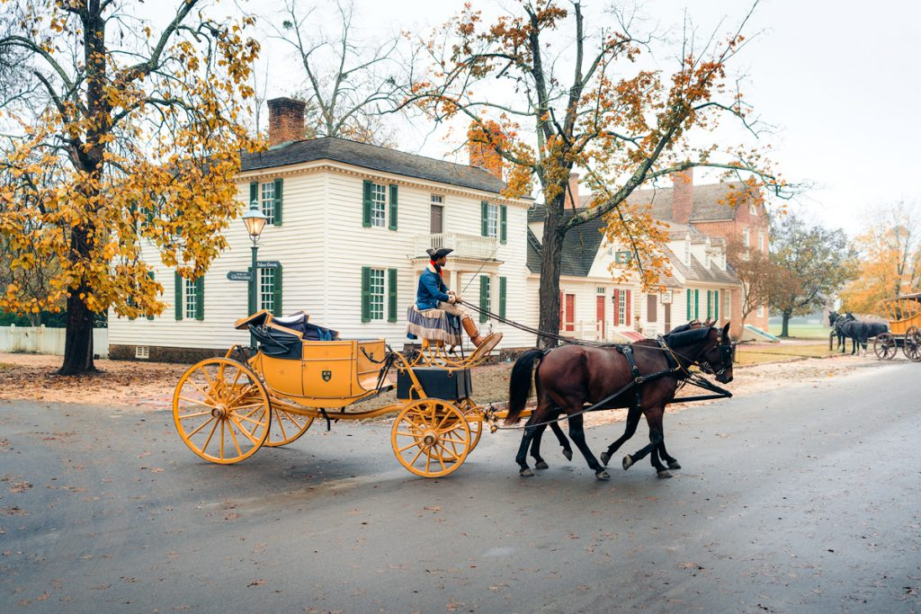 Williamsburg Virginia Guide and Itinerary - Colonial Williamsburg Horse and Carriage Ride
