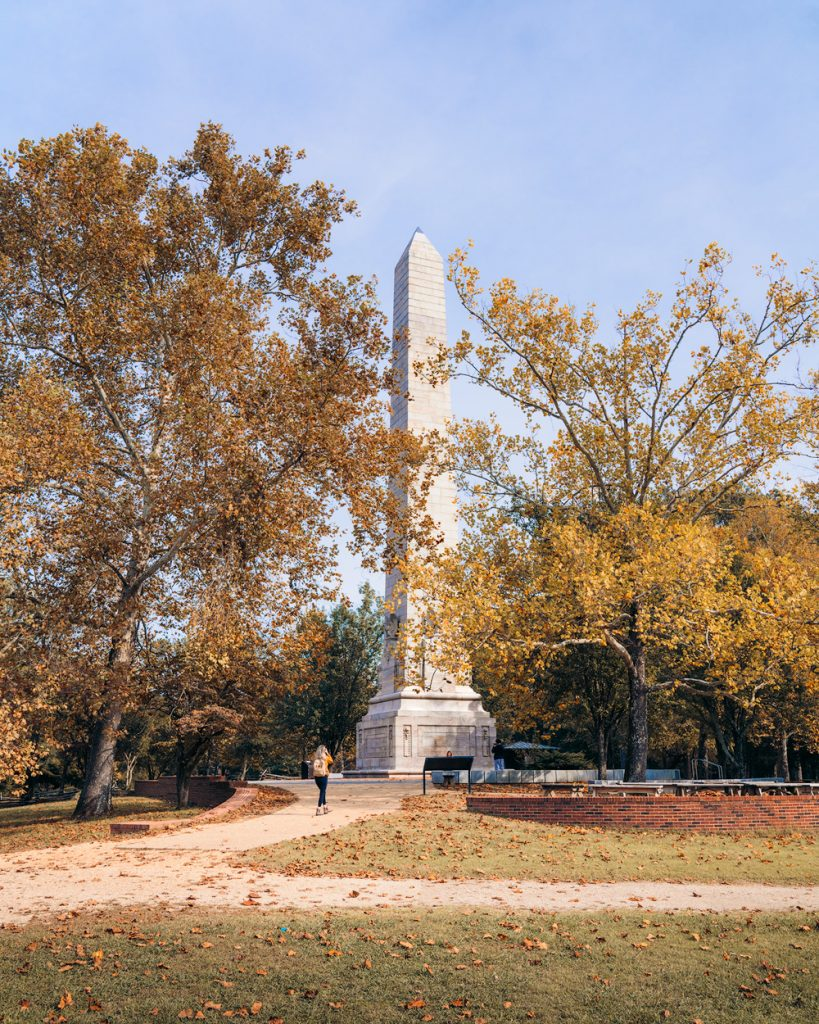 Williamsburg Virginia Guide and Itinerary - Tercentenary Monument at Jamestown Island
