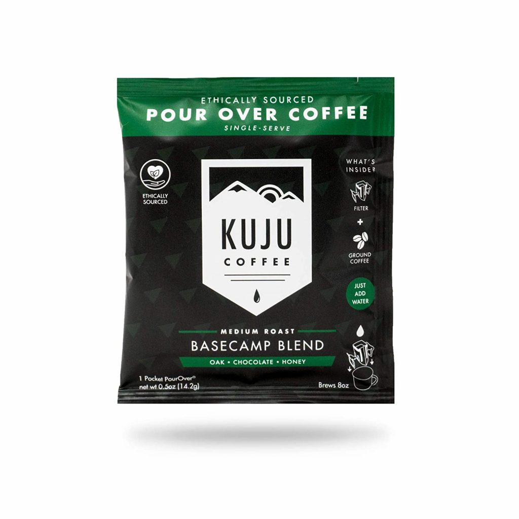 Pour over coffee for car camping