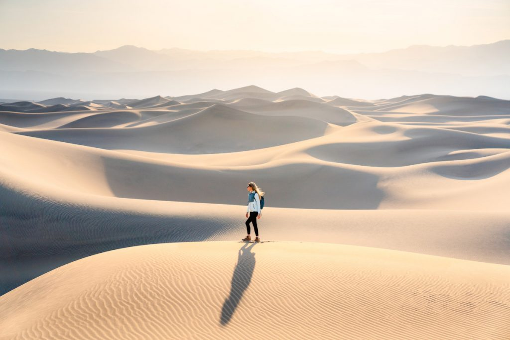 Ultimate Guide to Death Valley National Park - Hiking Mesquite Flats Sand Dunes
