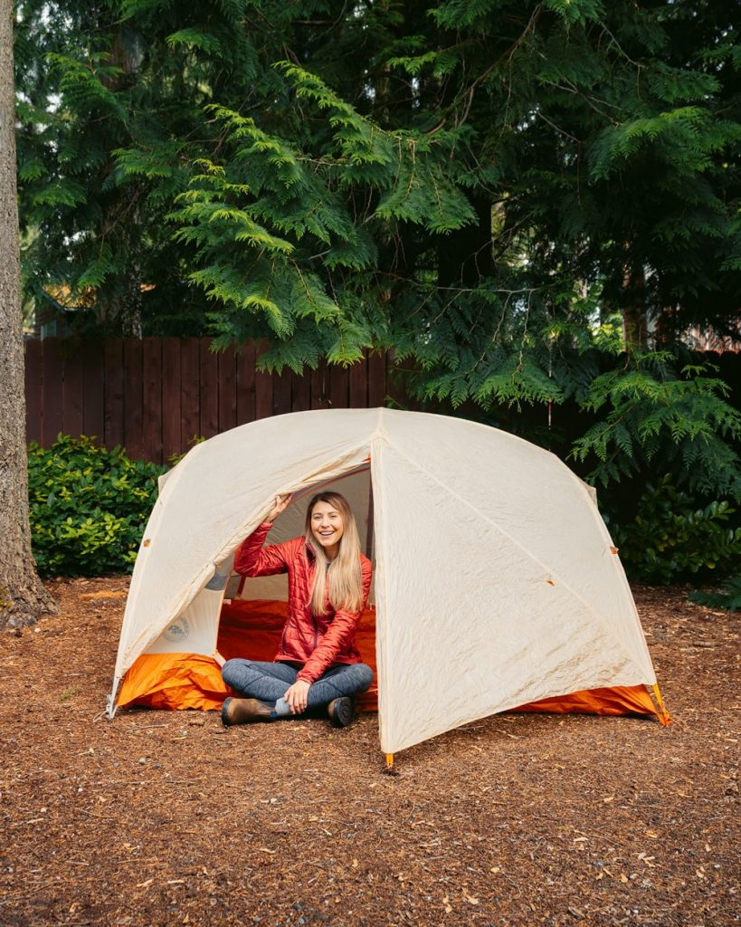 How To Prepare for Hiking and Backpacking Trips - Set Tent Up in Backyard