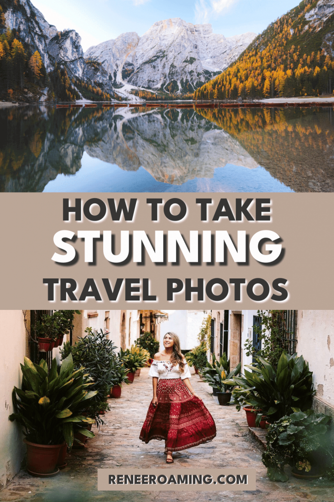 Whether you hop on a plane to a new destination regularly or just love documenting your local adventures, there's a good chance you'll be taking loads of pictures! In this guide, I'll be covering how to take better travel photos. No matter what camera or gear you're using, these travel photography tips will be sure to help you level up your photography game and take better travel photos! #travelphotography #travelselfie #photography #travel