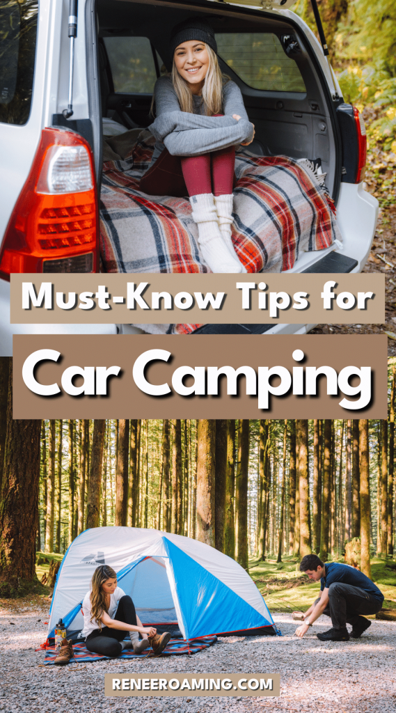 In this car camping basics guide, I am going to go over everything that I have learned throughout the years on how to plan your first car camping trip. From tent camping vs sleeping in your car, to finding free campgrounds, all the essentials that you need, camping hygiene, Leave No Trace, and how to plan your trip... this beginner car camping guide has you covered!