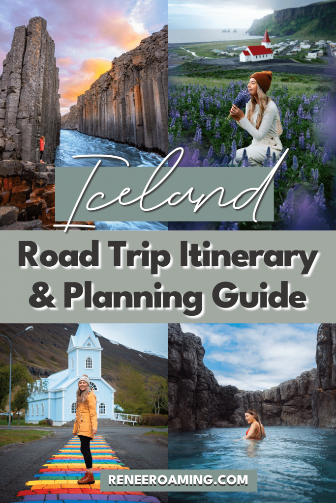 Iceland is one of my absolute favorite road trip destinations in the entire world. There aren't many other places where you can drive right past towering glaciers, lagoons filled with icebergs, active volcanoes, dramatic mountain peaks, and even coastal fjords. This 7 day Iceland road trip itinerary is going to ensure you have the most amazing Iceland vacation possible. Plus, I'm sharing options to extend your trip or cut it down to a 3 day Iceland itinerary.