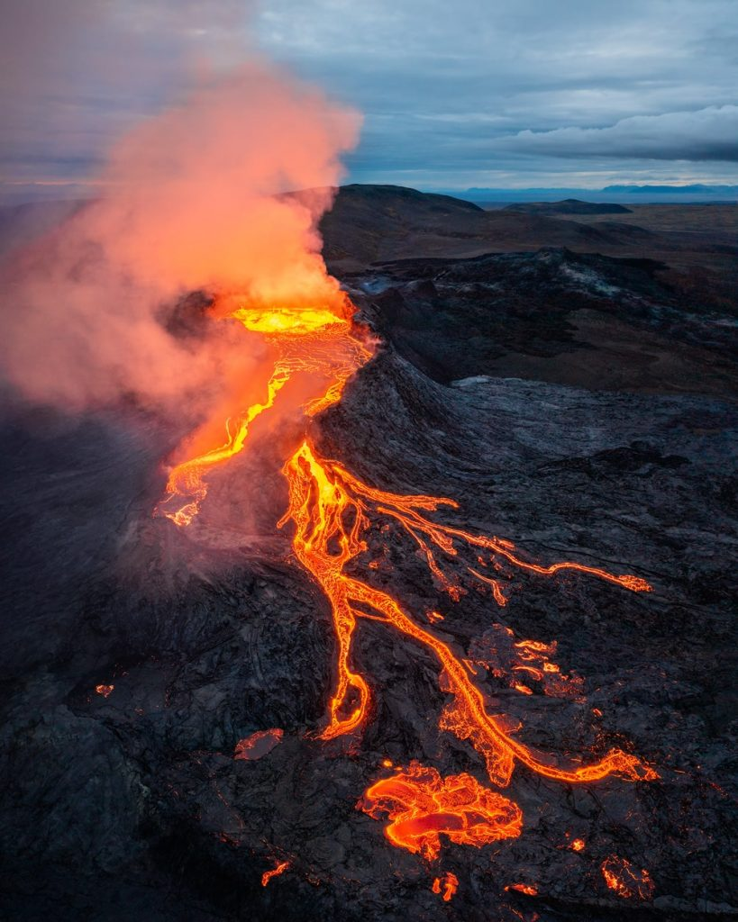 Incredible Iceland Road Trip Itinerary and Planning Guide - Fagradalsfjall Volcano Drone