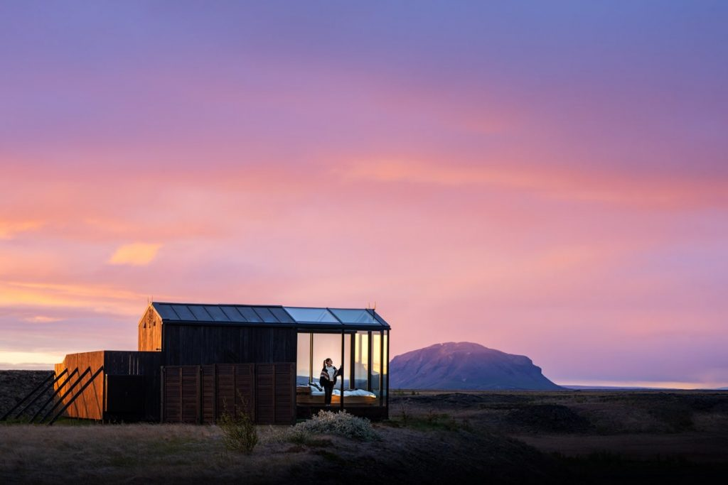 Incredible Iceland Road Trip Itinerary and Planning Guide - Panorama Glass Lodge Sunset