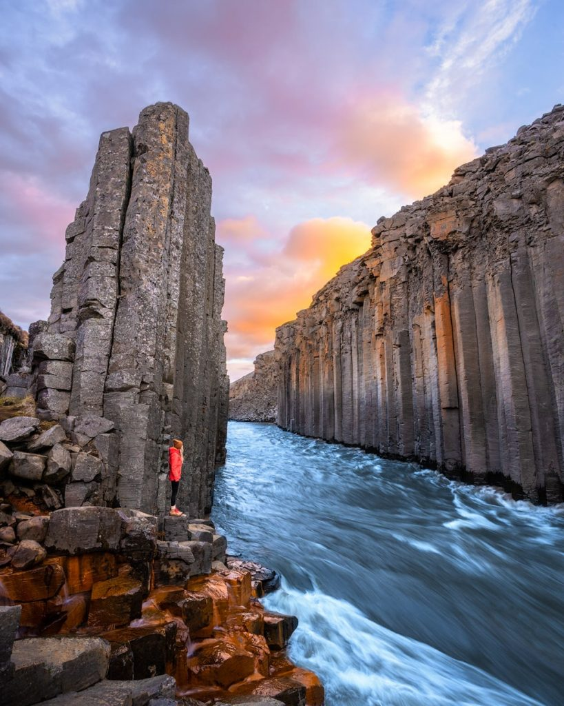 Incredible Iceland Road Trip Itinerary and Planning Guide - Studlagil Canyon