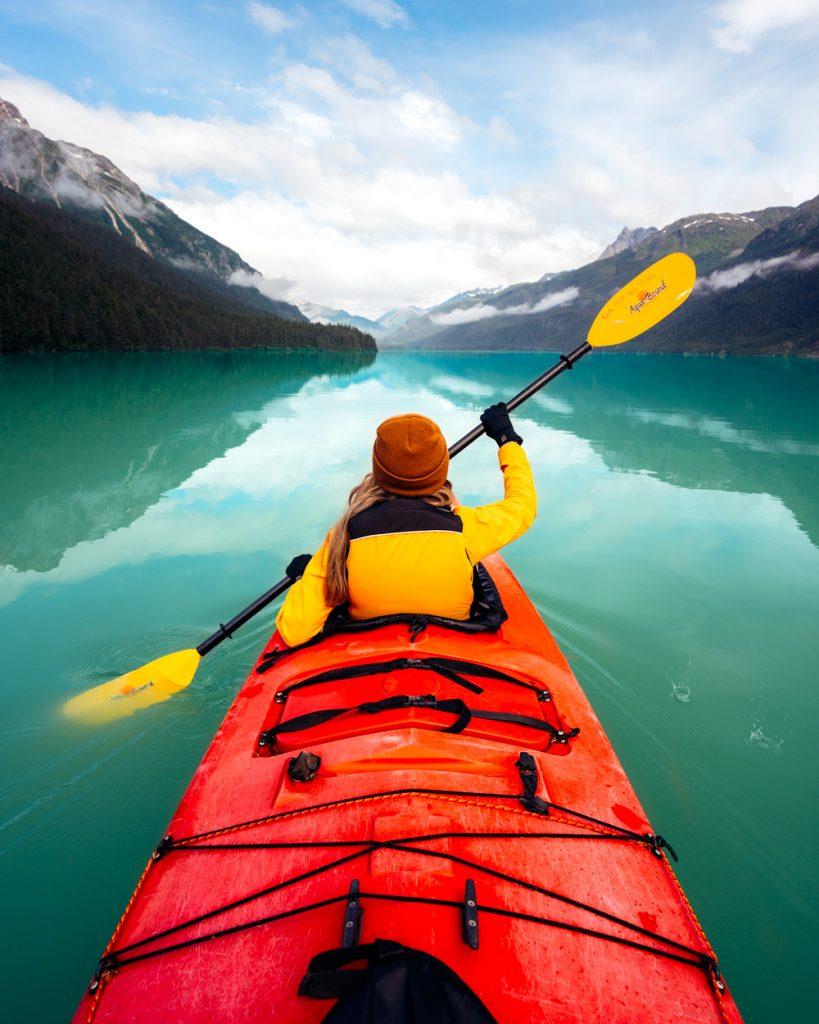 Kayak Chilkoot Lake in Haines