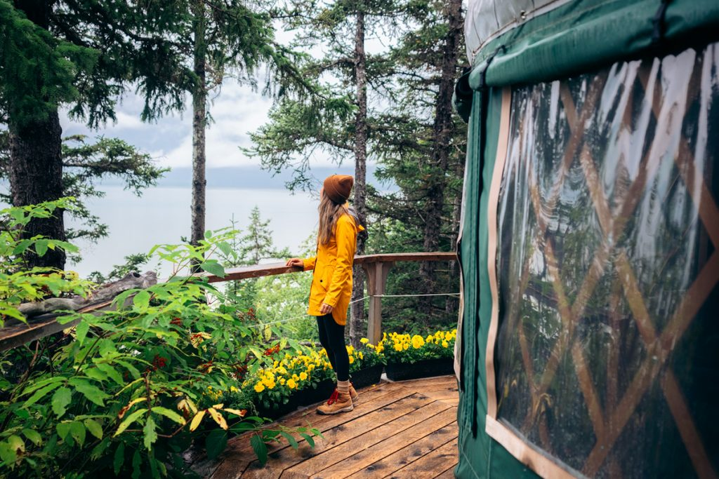 13 Incredible Things To Do In The Inside Passage Of Southeast Alaska - Stay In An Off Grid Yurt in Haines